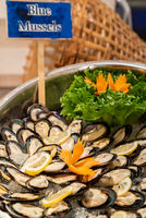 Blue Mussel Seafood on ice