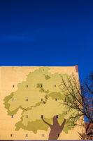 Fassadengestaltung an einem Haus in Berlin Schöneberg, Deutschland