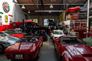 Workshop on repair and maintenance of Italian classic and sports cars.