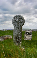 celtic cross - I - Tintagel - Cornwall - UK