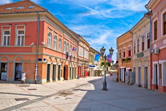 Restaurant central street of Novi Sad summer view