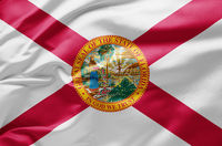 Waving state flag of Florida - United States of America