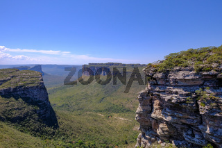 Chapada Diamantina National Park table mountain landscape, view from Morro Do Pai Inacio, Lencois, Bahia, Brazil