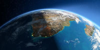 Detailed Earth. South Africa