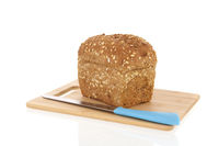 multigrain bread on board