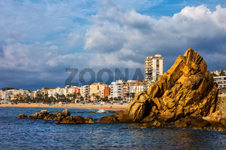 Lloret de Mar Sea Town Skyline