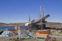 Dredger ship in Abelaer