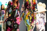 Fashion week models runway