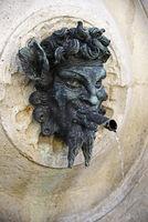 demon gargoyle, Fontana del Calamo, fountain, Ancona, Italy, Europe