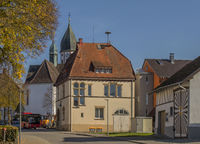 Friedingen with catholic parish church St. Leodegar, Singen-Friedingen