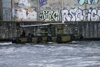 Old patrol boat on the Spree in Berlin