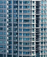 Apartment buildings in Singapore. Background