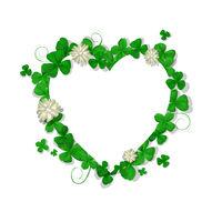 Saint Patricks Day heart frame