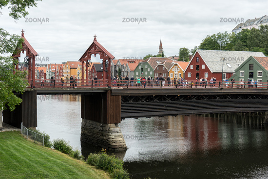 Old Bridge Gamle Bybroen in Trondheim