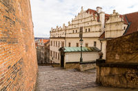 Czech Republic Prague Old Castle Steps descend to the old town