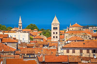 Historic Zadar towers and rooftops view