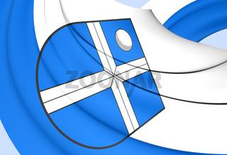 3D Flag of Bruchsal (Baden-Wurttemberg)