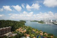 Cityscape, architecture, Sentosa island, Singapore.