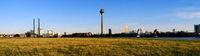 Dusseldorf, Panorama Kniebrucke to Medienhafen