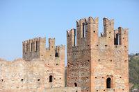defensive towers Arquato castle  Piacenza Italy