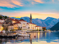 Perast in evening