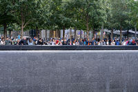 Memorial Pool at Ground Zero in Lower Manhattan, NYC
