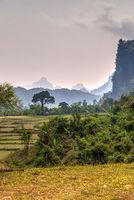 Karst landscape, Laos
