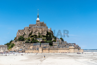 View of Mont Saint Michel against sky