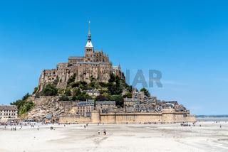 View of Mont Saint Michel against sky
