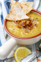 Traditional Lebanese lentil soup.