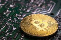 Bitcoin coin and printed circuit board PCB