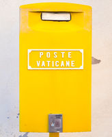 Yellow post box in Vatican