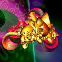 abstrakte bunte Wiedergabe der faraktal Bilder 3d