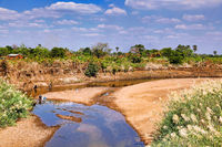 Typical river landscape in Zambia
