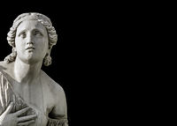 Classical Style Woman Sculpture Dark Background