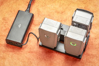 Charging drone smart batteries