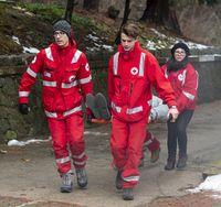 Bulgarian Red Cross Youth Paramedics volunteers stretcher
