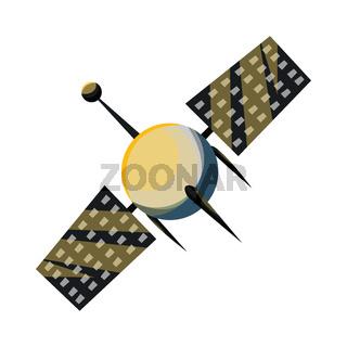 Simple satellite vector illustration on white background