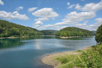 Aggertalsperre Reservoir in Bergisches Land,North Rhine westphalia,Germany
