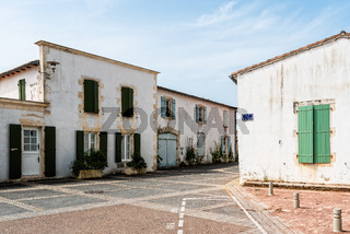 Picturesque street in village in the Island of Re