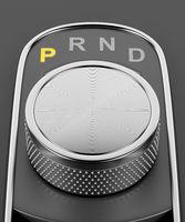 Rotary knob style gear selector