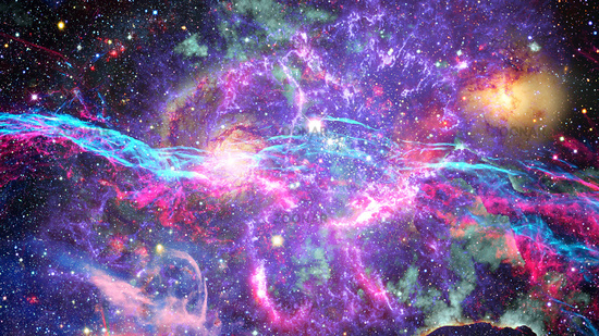 photo galaxy and nebula abstract space background image 12373308
