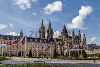 The Abbey of Saint-Etienne and town hall, Caen, France
