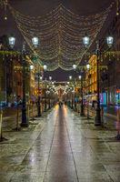Christmas illumination on street