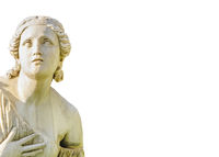 Classical Style Woman Sculpture Background