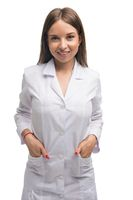 Young pretty nurse in uniform isolated shot