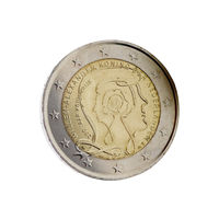 Dutch 2 euro coin with King Willem-Alexander