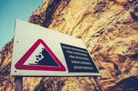 Dangerous Cliffs Sign