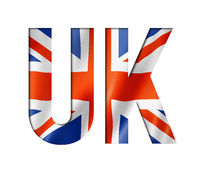 UK flag text font