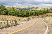 rural highway in Nebraska Sandhills